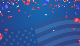 Background banner for 4th july, Independence Day. USA celebratio. N  the United States. Happy Birthday America. and flag patriotic illustration Stock Photos