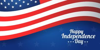 Background banner for 4th july, Independence Day. USA celebration. Vector design Happy Independence Day. Eps10 stock illustration