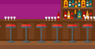 Background of bar counter. Royalty Free Stock Image