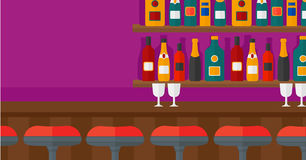 Background of bar counter. Stock Image