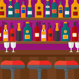 Background of bar counter. Stock Photo