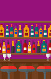 Background of bar counter. Royalty Free Stock Photos