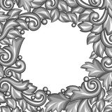 Background with baroque ornamental floral silver Royalty Free Stock Images
