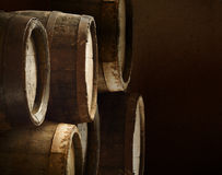 Background of barrel alcohol vinery wood Stock Images