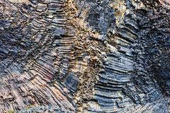 Background basalt formations, Iceland Royalty Free Stock Image