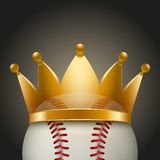 Background of Baseball ball with royal crown Royalty Free Stock Images
