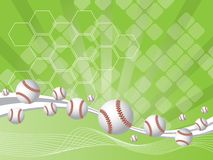 Background with baseballs Stock Image