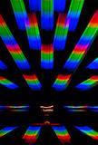 Background based on a photograph of the diffraction spectral decomposition of white light Stock Photo