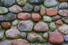 Background basement wall of gray integer larger stones Royalty Free Stock Image