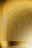 Background on the basis of the golden granulated surface. Background on the basis of a rough gold surface with gold frame Royalty Free Stock Images