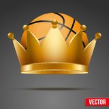 Background of Basketball ball with royal crown Royalty Free Stock Photo