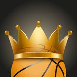Background of Basketball ball with royal crown Royalty Free Stock Image