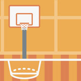 Background of basketball court. Royalty Free Stock Photos