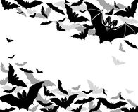 Background bats. Background with bats halloween greetings Stock Images