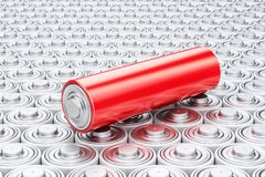 Background from batteries. Power supply source and electrical en Stock Photography