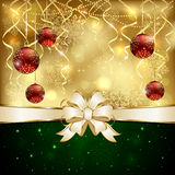 Background with baubles Stock Photos