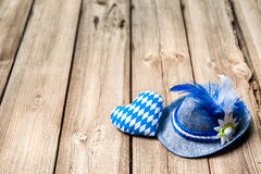 Background with Bavarian hat and heart Stock Photography