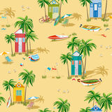 Background with beach huts Royalty Free Stock Photo