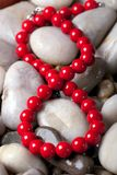 Background with beads Stock Photos