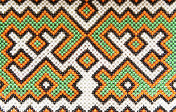 Background of beads indigenous peoples of Siberia Royalty Free Stock Images