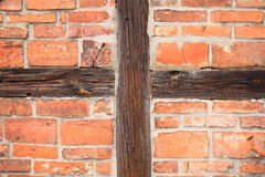Background of beams and bricks exterior building Royalty Free Stock Image
