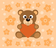 Background  with bear cartoon Royalty Free Stock Photography