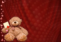 Background with bear-cub for valentine day Royalty Free Stock Image