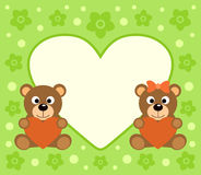 Background  with bears cartoon Stock Images
