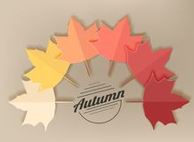 Background with beautiful autumn maple leaves, can be use as flyer, banner or poster. Stock Photo