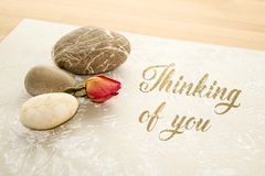 Thinking of you - card royalty free stock photo