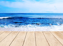Background beautiful blue sea Royalty Free Stock Photography