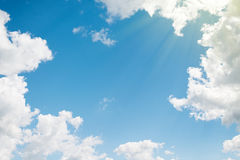 Background. beautiful blue sky with clouds Stock Image