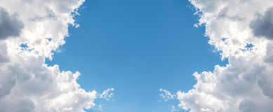 Background. beautiful blue sky with clouds Stock Photo