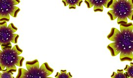 Background with beautiful colored flower pattern Royalty Free Stock Photography