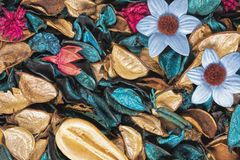 Background of beautiful and colorful Ocean Scent potpourri Stock Images