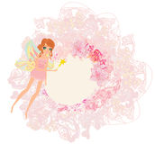 Background with a beautiful fairy Stock Photo