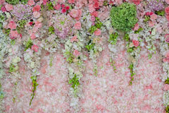 Background of Beautiful flower wedding decoration Royalty Free Stock Photos