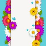 Background with beautiful flowers Stock Illustration