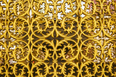Background beautiful gilded ornamental grille gate Royalty Free Stock Photos