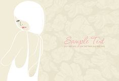 Background with beautiful girl. Wedding background with beautiful girl Royalty Free Stock Photos