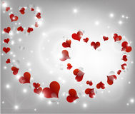 Background with beautiful hearts Stock Photos