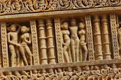Background of beautiful indian bas-relief Royalty Free Stock Image