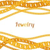 Background with beautiful jewelry gold chains Stock Images