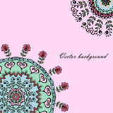 Background with beautiful Mandalas and with place for your text Royalty Free Stock Photography