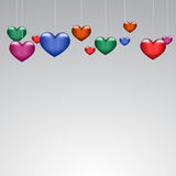 Background beautiful multicolored hearts on paper. Eps10 Royalty Free Stock Photos