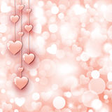 Background with beautiful pink hearts Stock Image