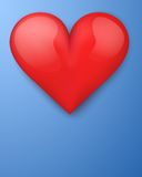Background with beautiful realistic heart. Stock Photos