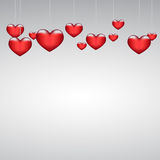 Background beautiful red heart on paper. Eps10 Stock Photos