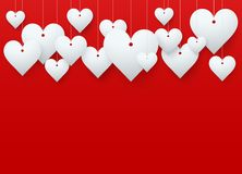 Background Beautiful Red Heart. Vector. Stock Photography