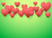 Background beautiful red heart. Vector Stock Images